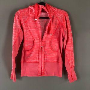 Zella pink/orange fitted athletic hoodie S